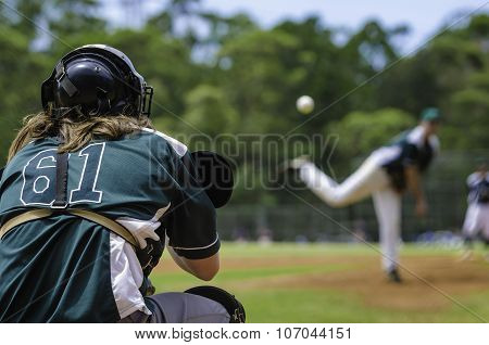 Baseball Pitcher And Catcher