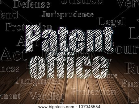 Law concept: Patent Office in grunge dark room