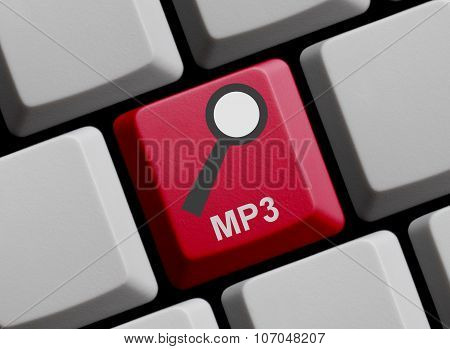 Computer Keyboard: Search For Mp3