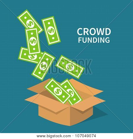 Crowdfunding, investing to startup business idea.