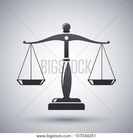 Vector Vintage Scales Of Justice Icon