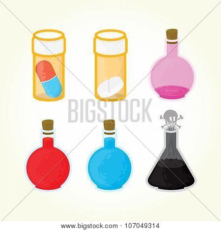 Game medicine icons