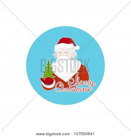 Colorful Icon Santa Claus