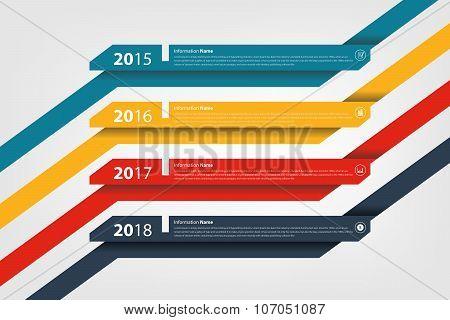 Timeline & Milestone Company History Infographic
