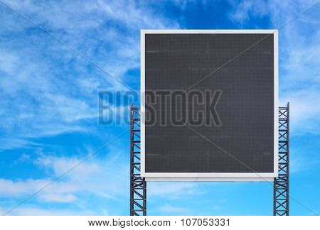 Large Sign Board With Blue Sky
