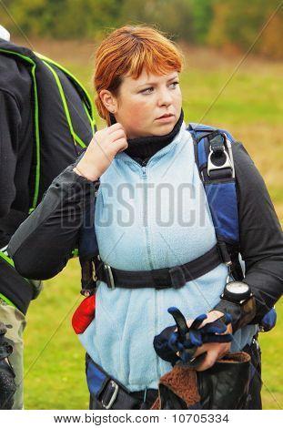 Portrait The Girl Parachutist