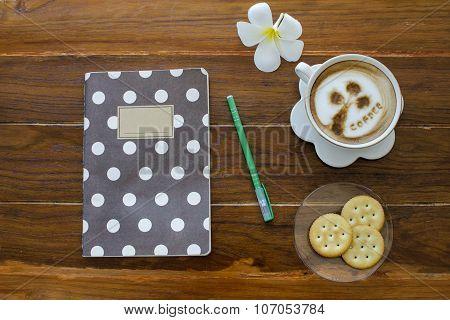 Tree coffee with cracker