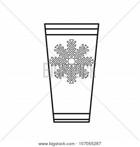 Plastic Cup with hot beverage