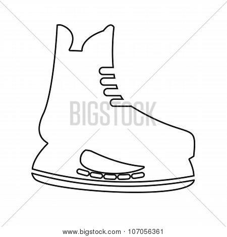 vector icon set of mens hockey skates
