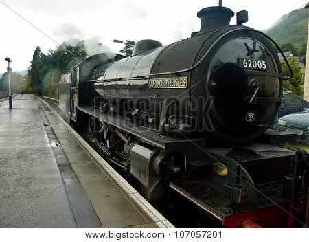 Fort William, Scotland -  August 17 2005. Old Steam Train The Jacobite
