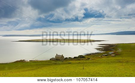 Typical Landscape In Orkney Island, Scotland