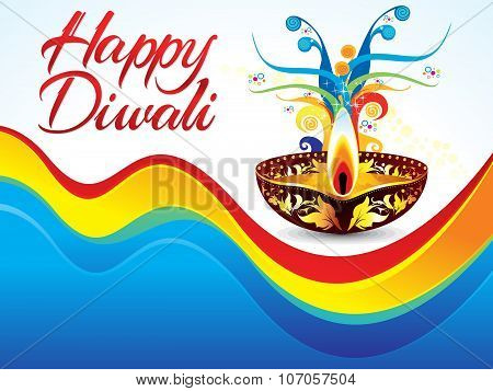 Abstract Colorful Deepawali Background
