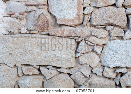 Photo of Grey Stone wall to use wallpaper