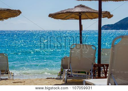 Sunshade On The Beach