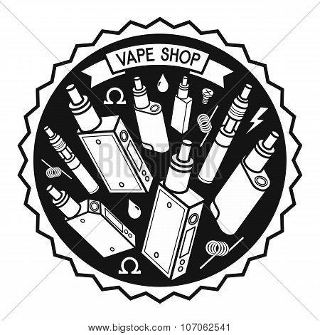Vector Illustration Of Vape
