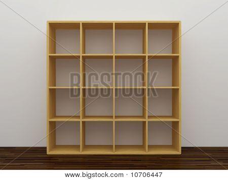 Empty Bookshelf