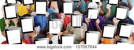 Social Gathering Digital Tablet Communication Society Concept
