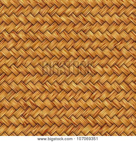 Wicker seamless texture pattern background.
