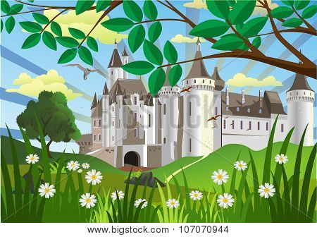 Landscape-castle On The Hill [