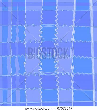 blue waving squares