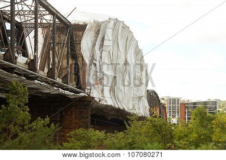 Tented Bridge for Repairs