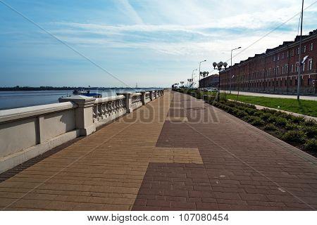 Lower Volga River Embankment In Nizhny Novgorod