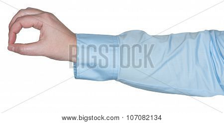 woman's arm showing a gesture