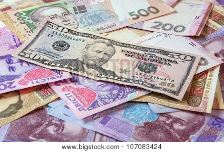 Ukrainian Money Hryvnia. The National Currency