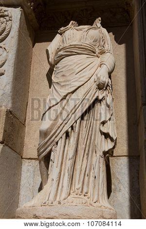Episteme, Knowledge Statue In Ephesus Ancient City