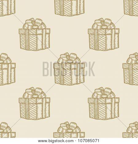 christmas gift box pattern seamless background