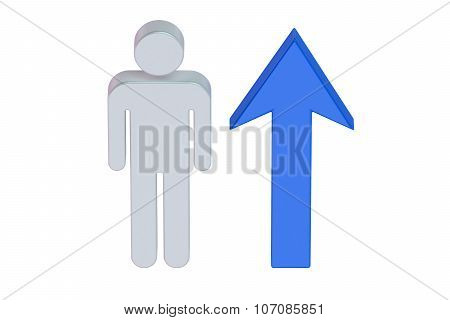 Man With Growing Arrow