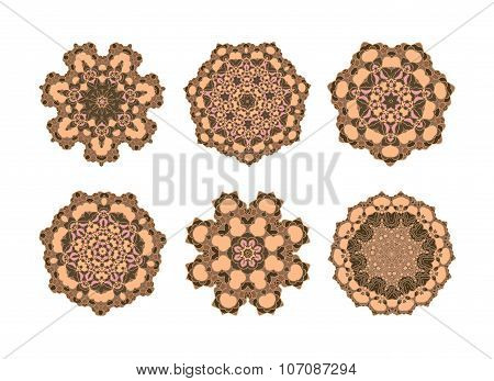 Mandala in brown color .