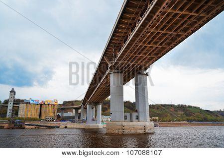 Metro Bridge In Nizhny Novgorod