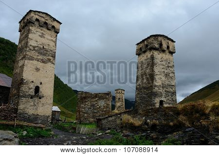 Famous Medieval Fortified Towers Of Georgia,high-altitude Settlement In Europe - Ushguli,unesco