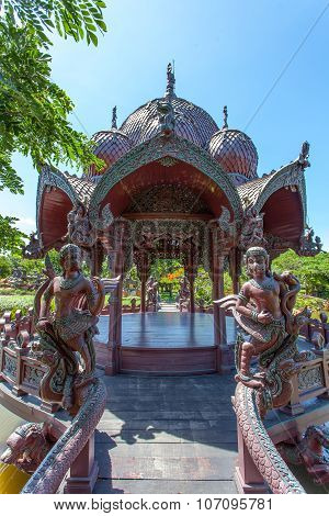 BANGKOK, THAILAND - JULY 30, 2015: Ancient Siam (Ancient City, Mueang Boran)