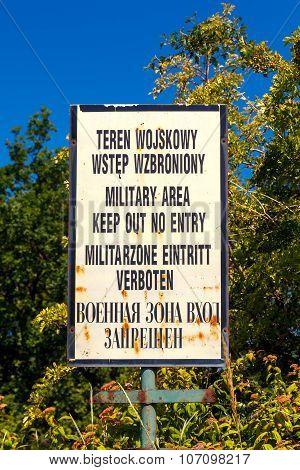Gdansk. Military base.