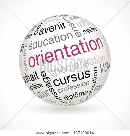 French Orientation Theme Sphere With Keywords