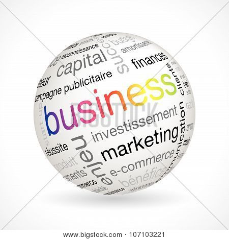 French Business Theme Sphere With Keywords