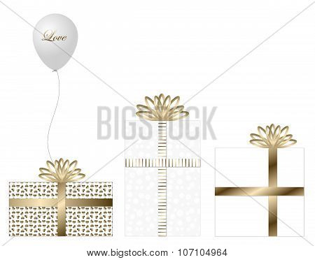 Gold and White Gifts