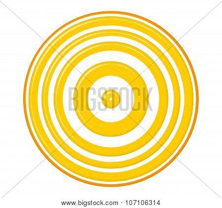 Concentric  Yellow Circles
