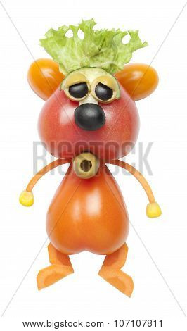 Hamster Made Of Tomatoes