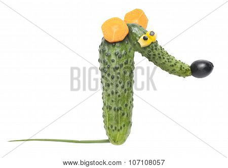 Funny Rat Made Of Vegetables