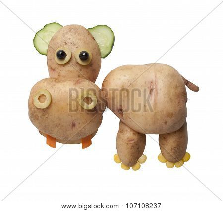 Hippo Made Of Potatoes