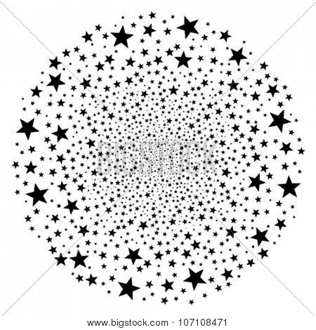 vector abstract round star starburst