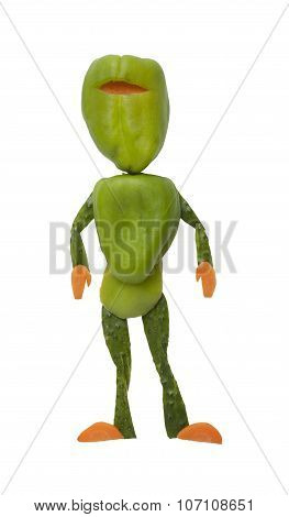 Green Ninja Made Of Pepper