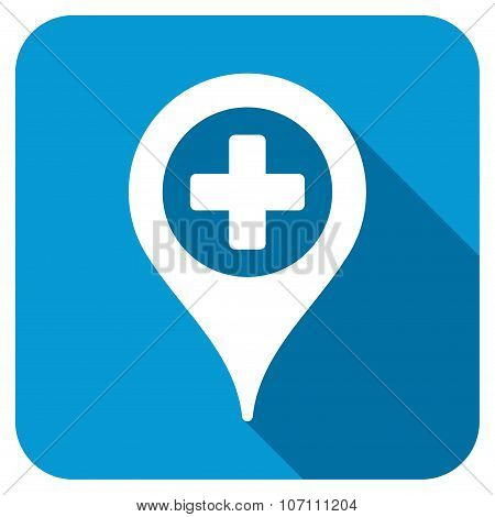 Clinic Pointer Longshadow Icon