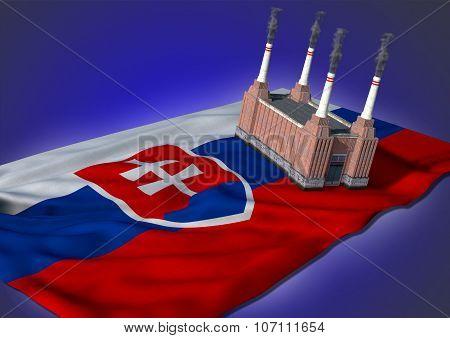 national heavy industry concept - Slovakian theme