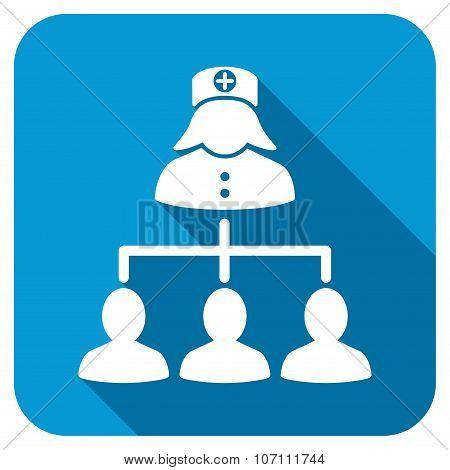 Nurse Patients Longshadow Icon