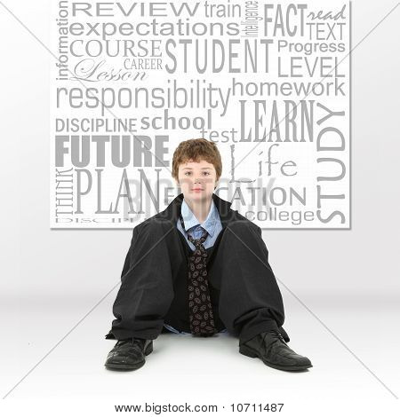 Boy In Education Concept Image