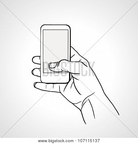 Hand Holding Mobile